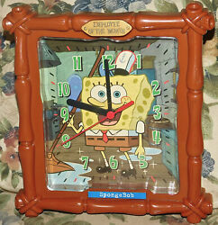 SpongeBob SquarePants Krabby Patty Employee of the Month 8 Wall Clock Works