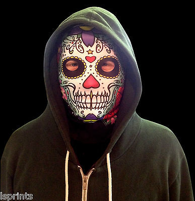 el Grün Gesicht Halloween Neuheit Lycra Gewebe Maske Schal (Grünes Gesicht Maske Halloween)