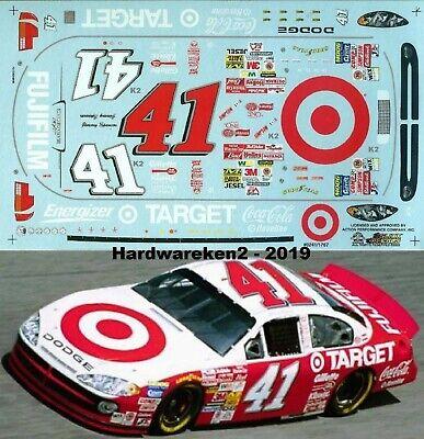 NASCAR DECAL #41 TARGET 2002 DODGE JIMMY SPENCER SLIXX - 1/24