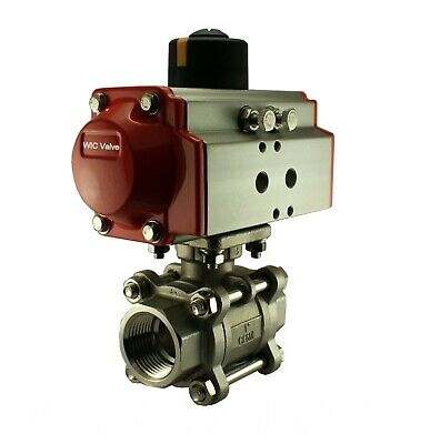 Pneumatic Air Actuated Stainless Ball Valve 12 Inch Double Acting Air Return