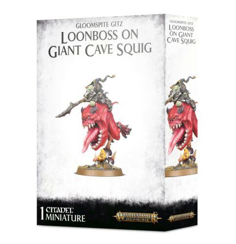 Loonboss on Giant Cave Squig Gloomspite Gitz Warhammer AOS NIB
