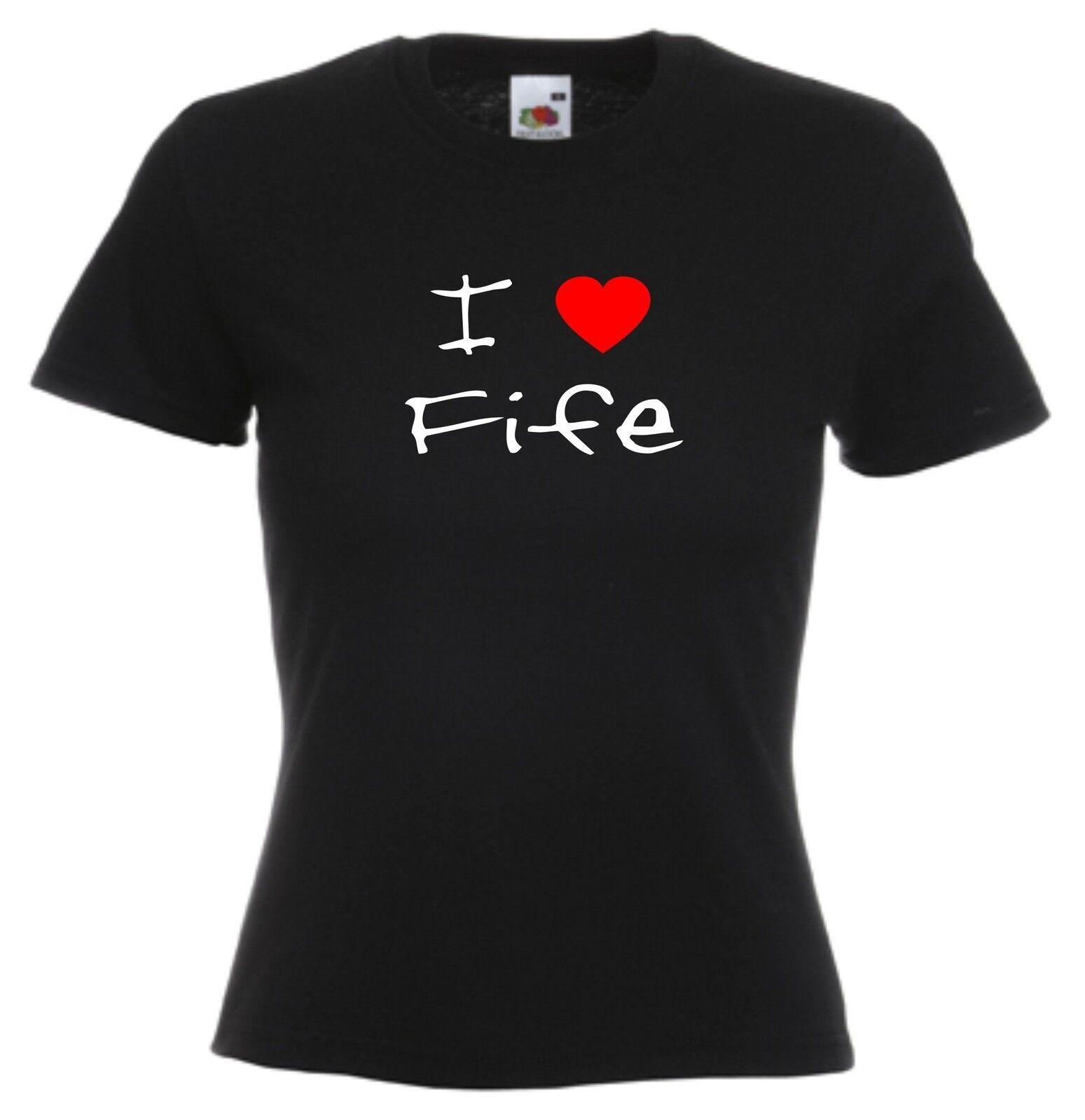 I Love Heart Fife Ladies T-Shirt