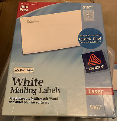 Laser Labels Mailing 12x1-34 11200 Labels -2 Boxes Combined