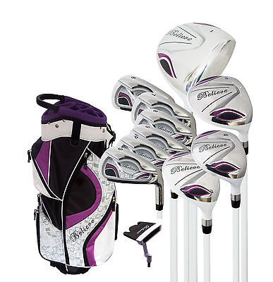 Believe Ladies Complete Golf Set by Founders Club Purple Right Handed for sale  Shipping to South Africa