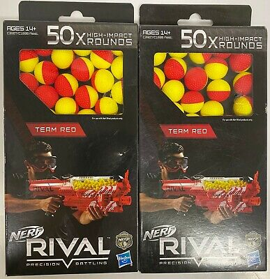 Nerf Rival Precision Battling Team Red 100x High Impact Rounds Balls