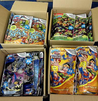 48 x Wholesale Joblot Set of 2 Puzzles Jigsaws Toys Games Scooby Doo Batman bag