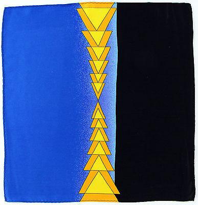 100% Silk Mens Pocket Square Hanky Rush Limbaugh No Boundaries Triangle Blue New
