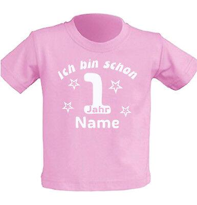 Mädchen Shirt Geburtstag (Kinder T-Shirt erster Geburtstag 1 jahr alt Junge Mädchen Party Feier Geschenk)