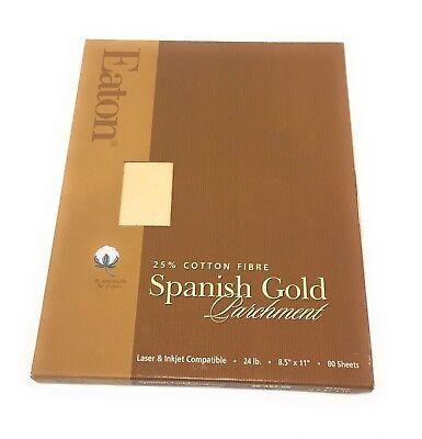 Vintage Eaton Spanish Parchment Paper 25 Cotton 24lb Paper Pack Of 80 Sheets