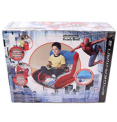 New Spiderman Children Kid Boy Ready EZ Bed Air Mattress Sle