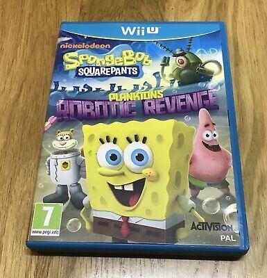 Wii U SPONGEBOB SQUAREPANTS Planktons Robotic Revenge Nickelodeon Nintendo PAL