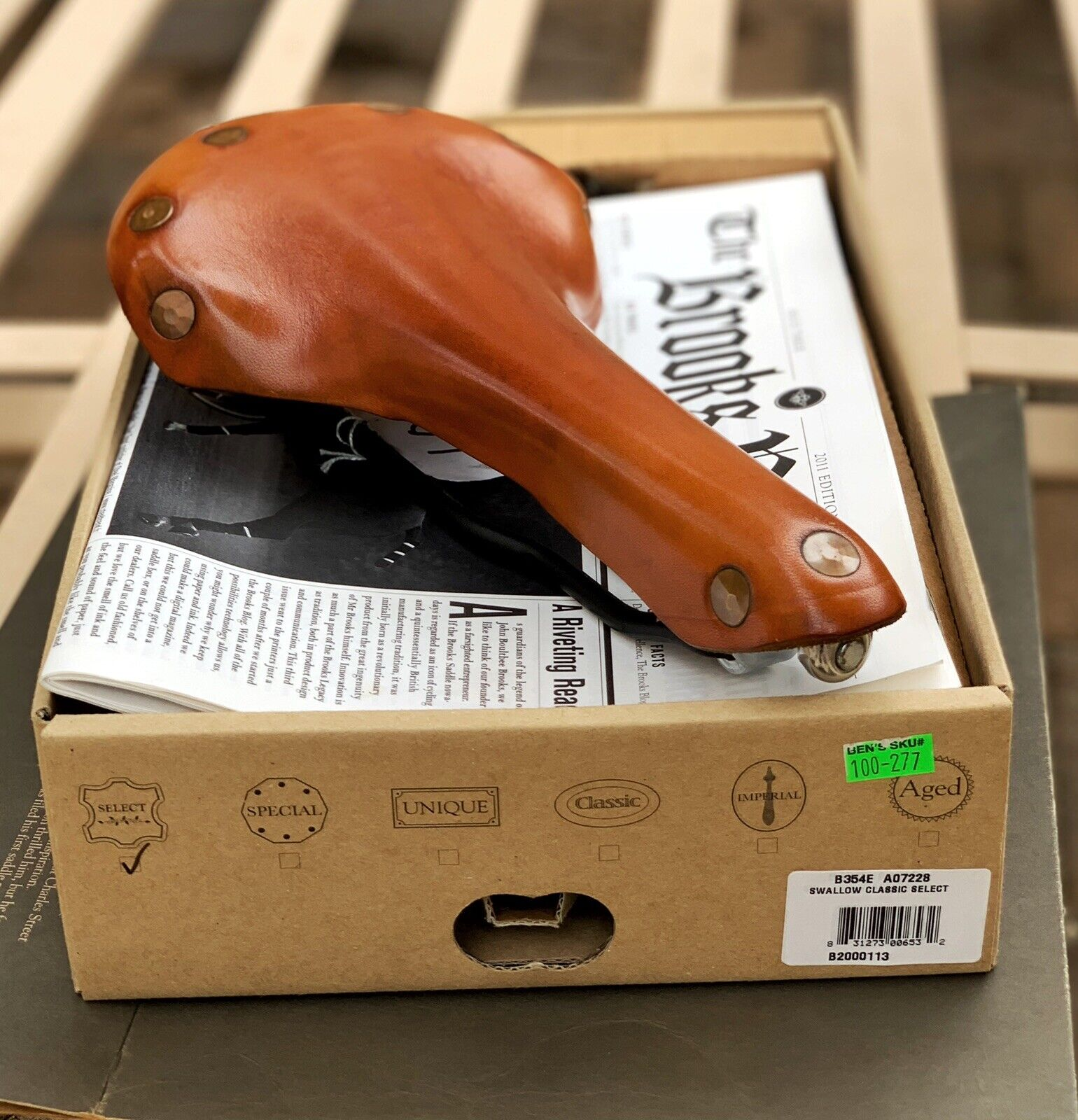 Bicycle Saddle Leather Soft Vintage Seat Bike Racing Nos Brooks Black Brown New