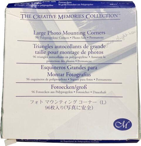 Creative Memories Large Photo Mounting Corners - NIP (96 count)