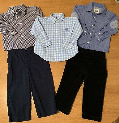 Toddler Boy's Easter Spring Lot 18 Months Nautica Chaps Blue 3 Shirts 2 Pants