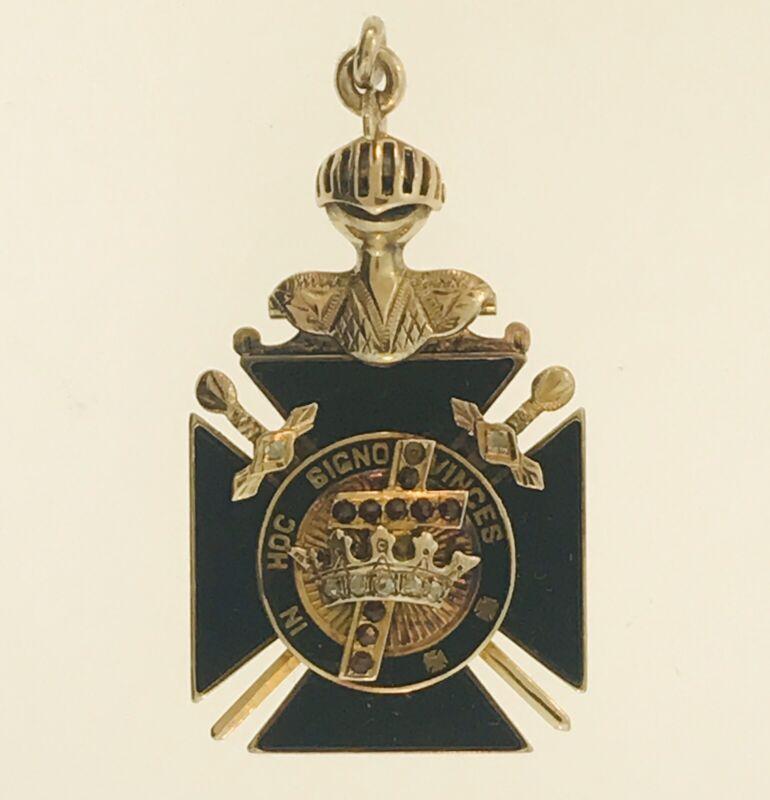 Masonic 14K Gold Pendant - Vintage - Rare - Free Shipping
