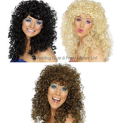 70/'s-Cher-Stage-Panto-Fancy Dress-Tangled-Mother Gothel LONG BLACK CURLY WIG