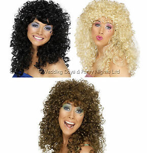 Boogie-Babe-Long-Curly-Permed-Afro-Wig-60s-70s-80s-Pop-Star-Ladies-Fancy-Dress