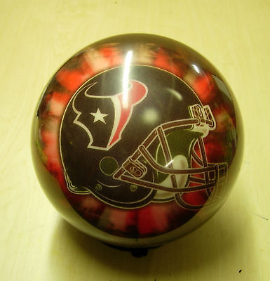 12 Bowling Ball Brunswick Viz-a-ball Nfl Rare 2006 Helmet Style Houston Texans