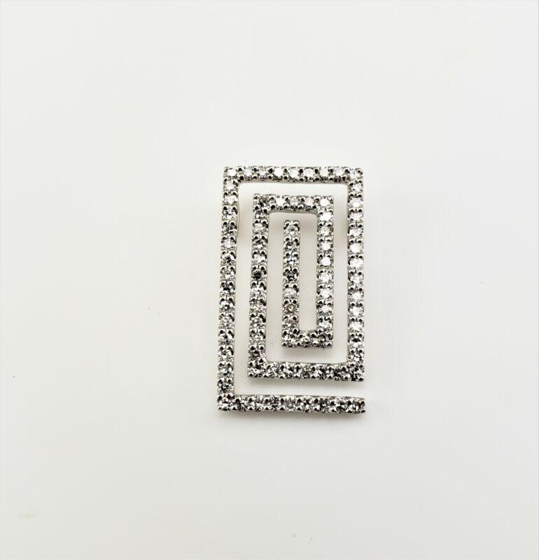 Vintage 14 Karat White Gold Diamond Pendant #8157