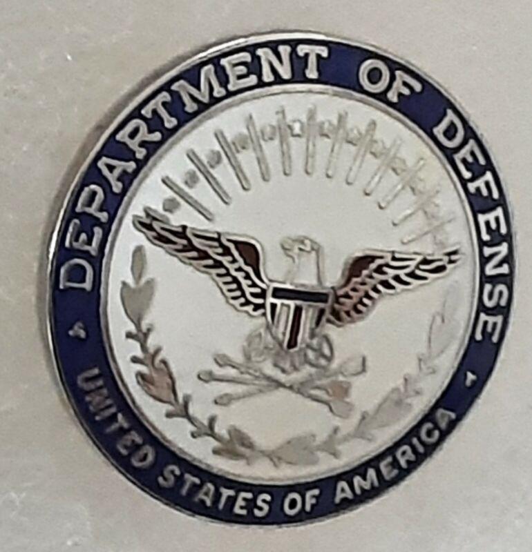 "Department of Defense, United States of America, 1"" lapel pin/tie tack"