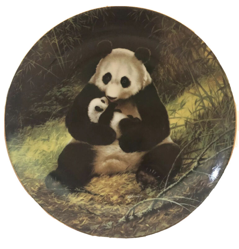 Vintage Will Nelson WS George THE PANDA Endangered Species Plate 1988