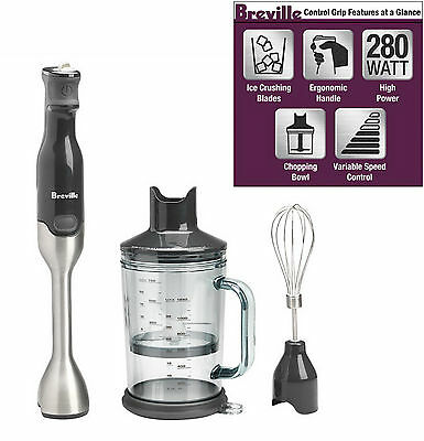 Breville Bsb510xl Professional Handheld Control Grip Immersion Blender   New