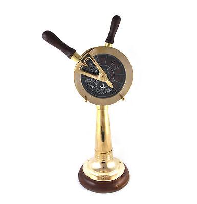 Usado, De Barco Motor Orden Telegraph - Laboral Reproducción Latón E. O. T. con Timbre comprar usado  Enviando para Brazil