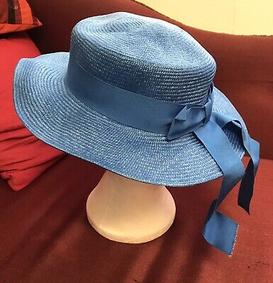 Vintage Bermona Trend Blue Straw/Sisal Hat