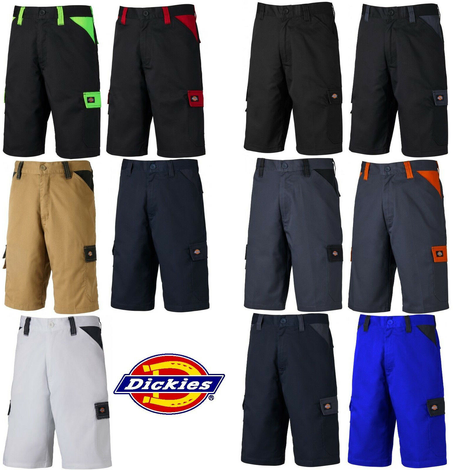 c13cabcf0391f3 Dickies Workwear kurze Arbeitshose Everyday Shorts Multifunktion Handwerker  *