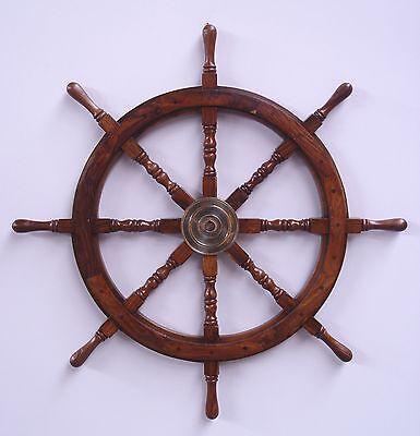 Schiffs Ruder massiv Teakholz Maritimes Geschenk Maritime Dekoration Steuerräder