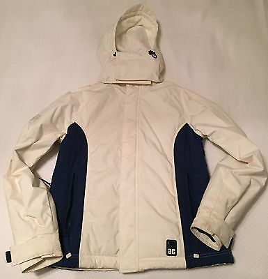 Womens, Ladies, American Eagle, White Winter Ski Coat Jacket - (M) - 70% Off - Ladies Womens Ski Jacket