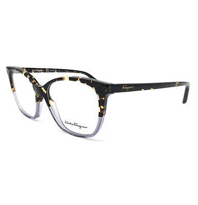 Salvatore Ferragamo Eyeglasses SF2817 259 Havana Blue Rectangle Women 52x15x140