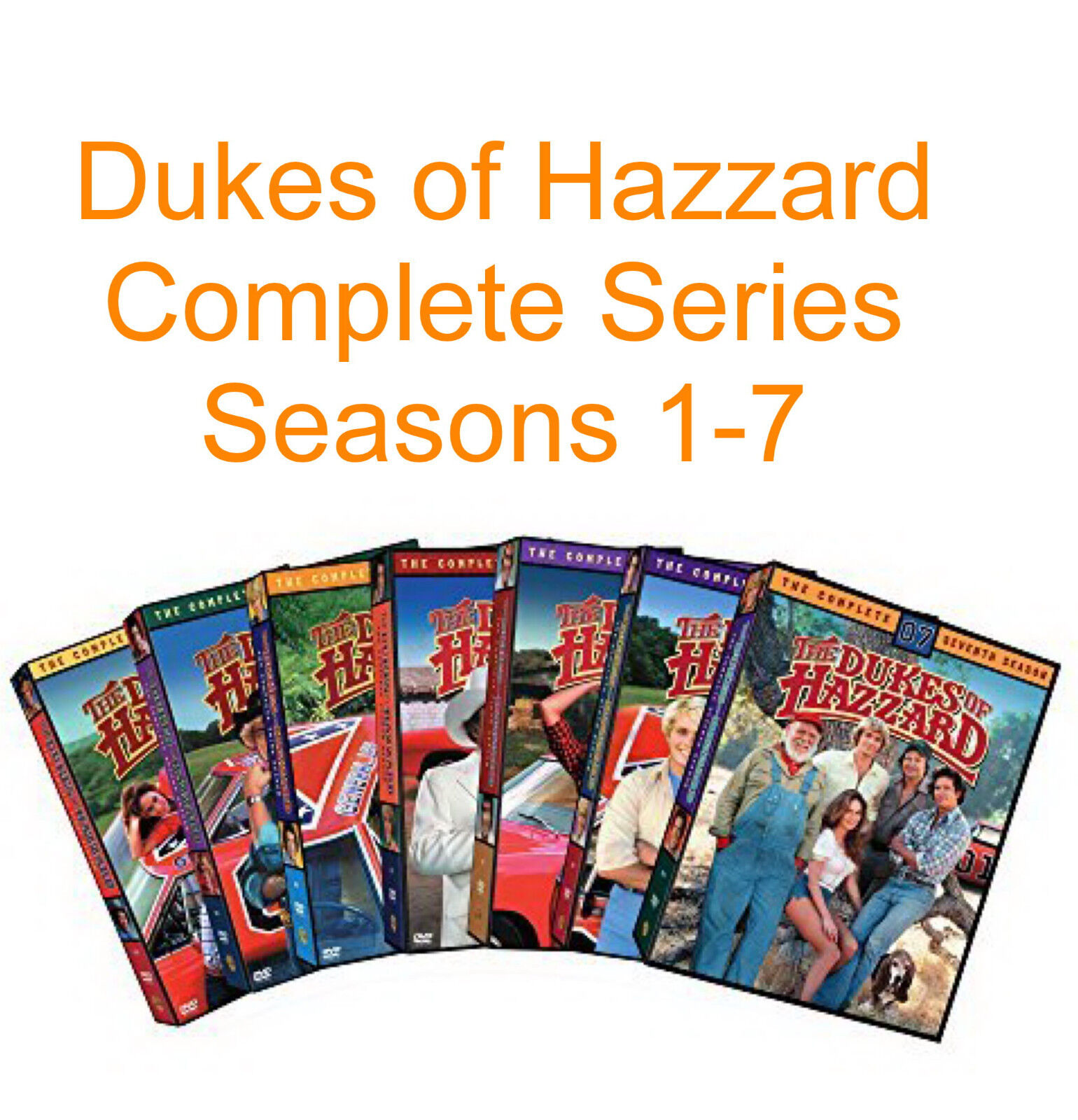 Изображение товара Dukes of Hazzard The Complete TV Series Seasons 1 2 3 4 5 6 7 DVD Set - NEW