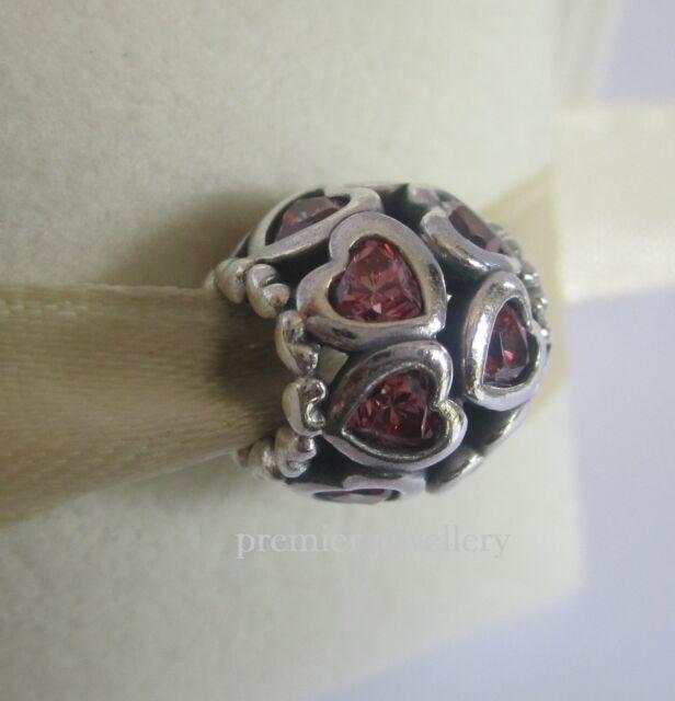 Authentic Genuine Pandora Silver Sparkling Openwork Heart Charm - 791250CZS