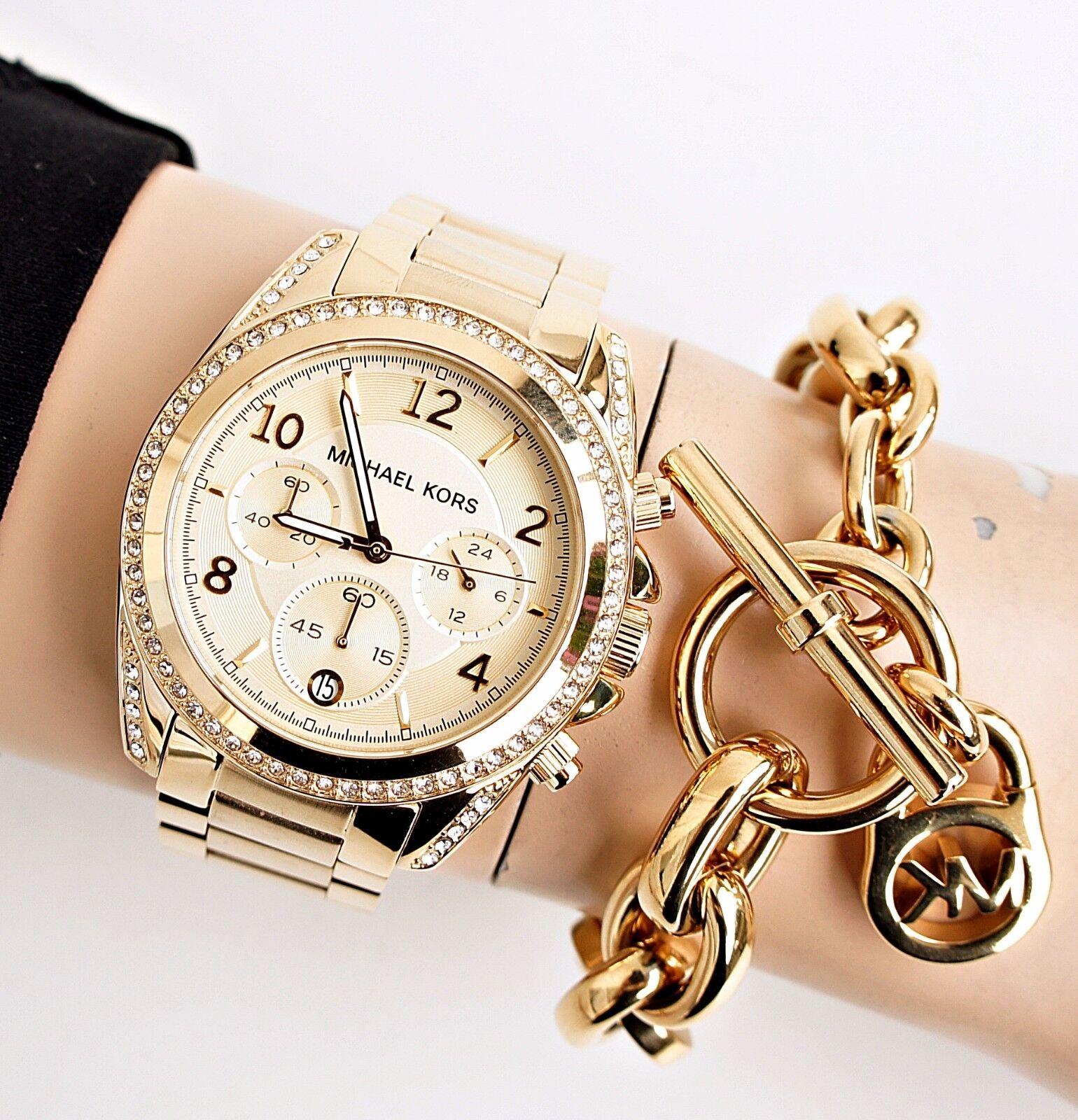 Original Michael Kors Uhr Damenuhr MK5166 BLAIR Farbe: Gold NEU
