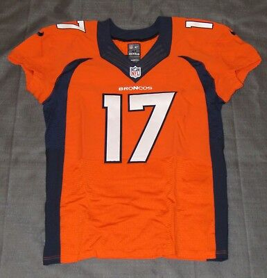 Brock Osweiler Game Worn Broncos Home Jersey Uniform Panini 10/23/14 v. Chargers - 10 Home Uniform
