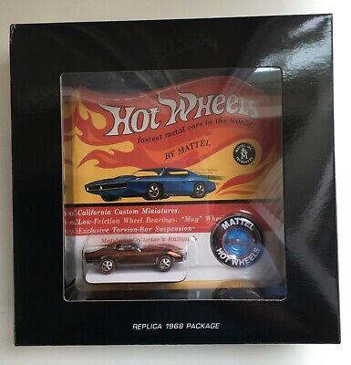 2018 Hot Wheels Original 16 Custom Corvette Brown # 3744 / 6000 ~ Free Shipping!