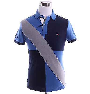 Tommy Hilfiger Men Short Sleeve Custom Fit Logo Pieced Pique Polo Shirt -$0 Ship