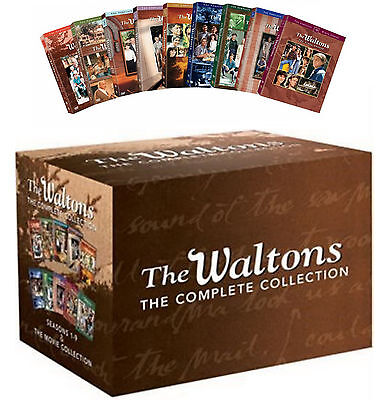 The Waltons Complete Series Dvd Gift Box Set Season 1 2 3 4 5 6 7 8 9   6 Movies
