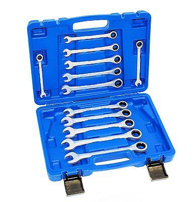 Knarrenschlüssel Ratschenschlüssel Ratschen Ringschlüssel Set Satz 8 - 19mm