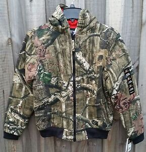 Mossy Oak Camo Insulated Hunting Jacket with Hood BOYS / KIDS - LARGE