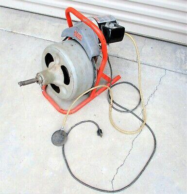 Ridgid Kollmann Drum Machine Drain Cleaner Snake 13hp 115v Motor K-375