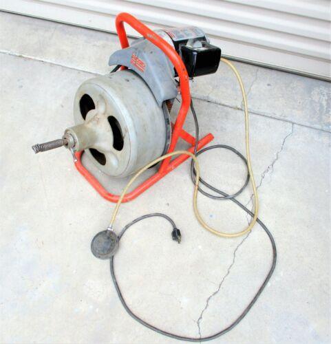 Ridgid Kollmann Drum Machine Drain Cleaner Snake 1/3HP 115V Motor K-375 (?)