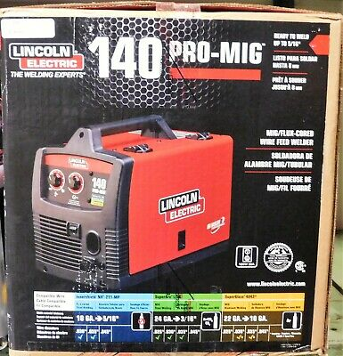 New Lincoln Electric 140 Pro-mig Migflux Corded Wire Feed Welder K2480-1 Nib