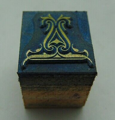 Vintage Printing Letterpress Printers Block Decorative Block 34 X 1316