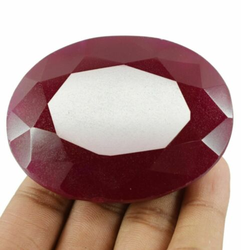 500 Ct Natural Real African Red Ruby Top Quality EGL Certified Gemstone