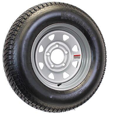 Mounted Trailer Tire On Rim ST215/75D14 LRC 14X5.5 5-4.5 Silver Spoke Wheel