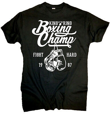 Boxing Champ Männer T-Shirt Fight Sport Boxen kämpfen Boxhandschuh Kult Ring