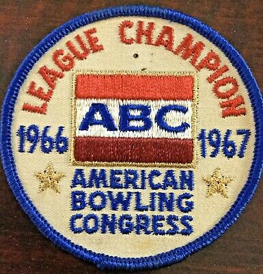 Embroidered Iron On Patch Sports Strike Bowling League B Bowling Patch