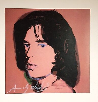 ANDY WARHOL HAND SIGNED SIGNATURE * MICK JAGGER *  COLOR PLATE  W/ C.O.A.